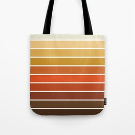 70s Stripes - 70s, retro, retro stripes, ombre, rust, orange, brown,  yellow Tote Bag