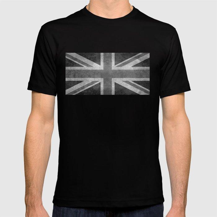 a6f8b23d British Union Jack flag 1:2 scale retro grunge T-shirt by ...