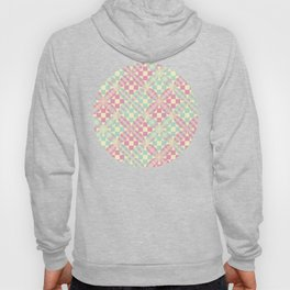 Plaid Patchwork Pattern in Pink, Green & Yellow Hoody