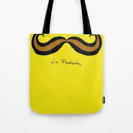 Monsieur Mustard Moustache Tote Bag