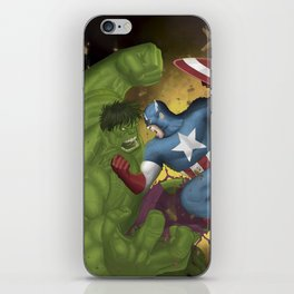 Hulk vs. Capt America iPhone Skin