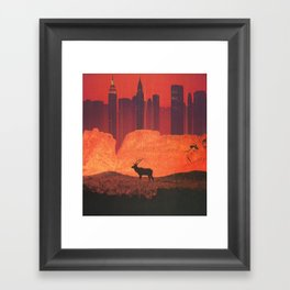 The Fire and The Flood Framed Art Print