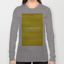 Yellow for Curiosity Long Sleeve T-shirt