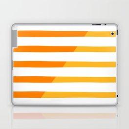 Beach Stripes Orange Yellow Laptop & iPad Skin