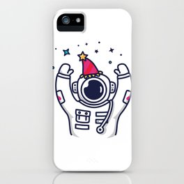 Partying Astronaut iPhone Case