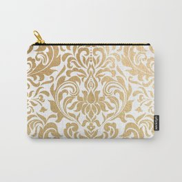 Gold foil swirls damask #12 Carry-All Pouch