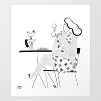 good morning Art Prints featuring Good Morning by littleteashi