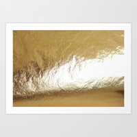 gold foil Art Prints featuring Gold Foil by The Wellington Boot