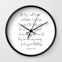Lamentations 3:21-23 Wall Clock