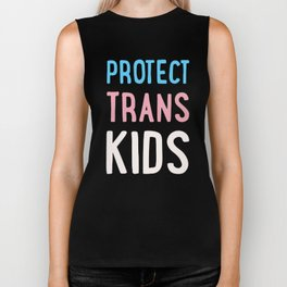 Protect Trans Kids Biker Tank