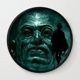 Mahatma Gandhi - quote Wall Clock