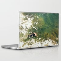 surfer Laptop & iPad Skins featuring Surfer  by Ed Pulella