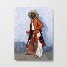 "Frederic Remington Western Art ""A Vaquero"" Metal Print"