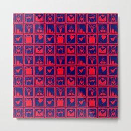 Romance Themed Pattern Metal Print