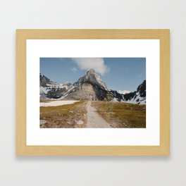 Larch Valley Trail Framed Art Print