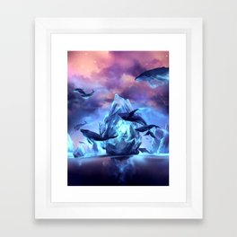 When the moon is closer Framed Art Print