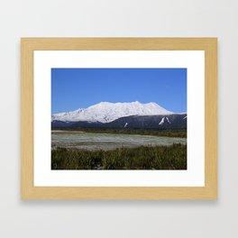 Mount Ruapehu after snowstorm Framed Art Print