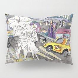 Kissing in New York City Pillow Sham