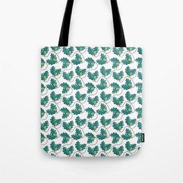 Kawaii Cute Acorn with Oak Leaves Tote Bag