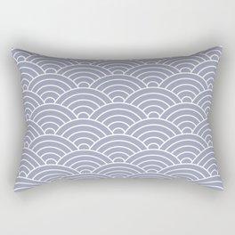 Fan pattern in blue Rectangular Pillow