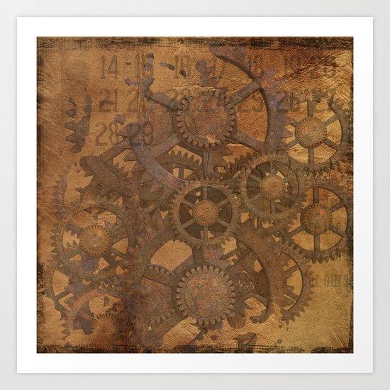 Rusty Gears Art Print