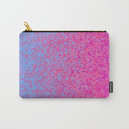 Indigo Lilac Purple Pixilated Gradient Carry-All Pouch