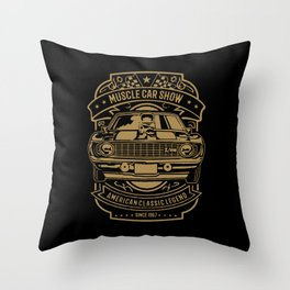 muscle car show american classic legend Throw Pillow