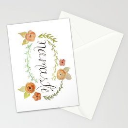 Namaste Floral Watercolor Stationery Cards