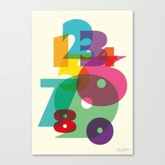 123 in colors Canvas Print