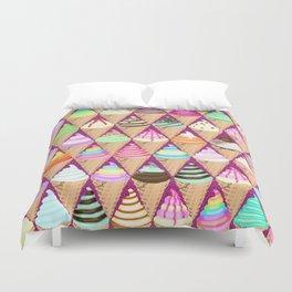 Colourful Ice Creams Diamond Pattern Duvet Cover