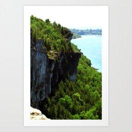 Lions Head Cliffs Art Print