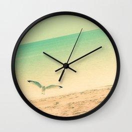 Beach is where I belong Wall Clock