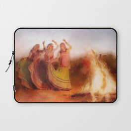 Traditional Moroccan Dancers By The Fire Laptop Sleeve