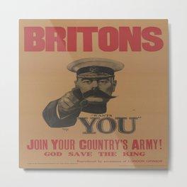 Vintage poster - British Military Metal Print