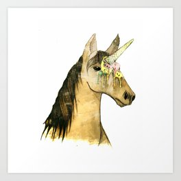 ICE CREAM UNICORN Art Print