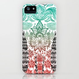 Indian Painted Elephant iPhone Case