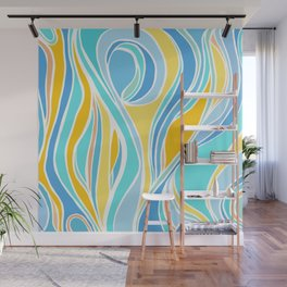 Beach Day Abstract Wall Mural