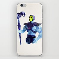skeletor iPhone & iPod Skins featuring Polygon Heroes - Skeletor by PolygonHeroes