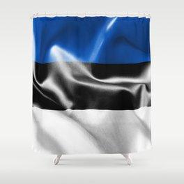 Estonia Flag Shower Curtain