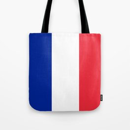 Flag of France, Authentic color & scale Tote Bag
