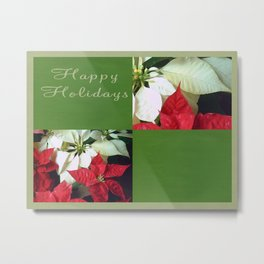 Mixed Color Poinsettias 2 Happy Holidays Q5F1 Metal Print