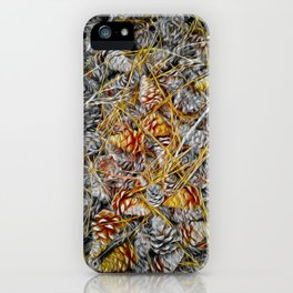 Pine Cones Forest Natural Pattern iPhone Case