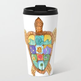 Sunny Sea Turtle Travel Mug
