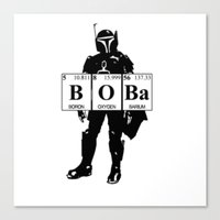 boba Canvas Prints featuring Boba by Pinguin Designs