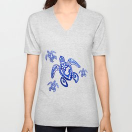 Flower Turtle Unisex V-Neck