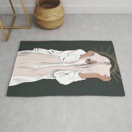 Long Hair Woman Goddess  Rug
