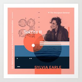 Beyond Curie: Sylvia Earle Art Print