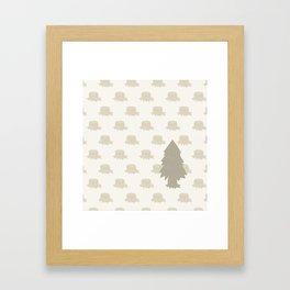 The Last Christmas Tree Framed Art Print