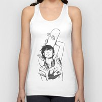 skateboard Tank Tops featuring SKATEBOARD by FISHNONES