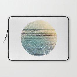 Geometric circle design with atmospheric ocean–Raumati beach–New Zealand 2015 Laptop Sleeve